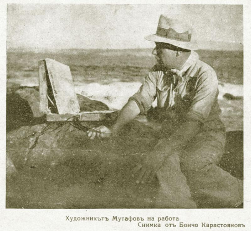 The artist Mutafov working