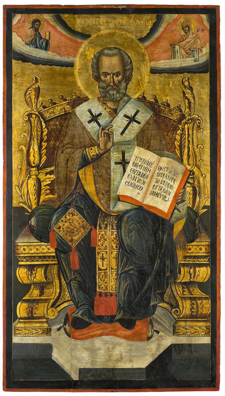 Св. Никола на трон